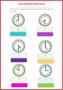 Horas analógica y digital