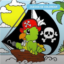 Colorear Barco pirata