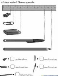 Longitud (Medir en centímetros)