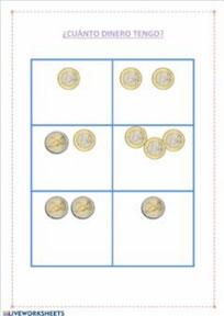 Monedas 1 y 2 euros