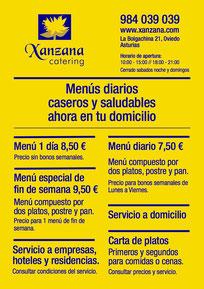 Menús diarios y Carta de platos