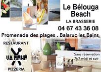 Le Bélouga beach Balaruc les bains