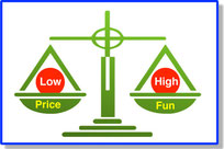 High fun lessons at a low price!