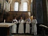 Chant du Pélerin par les Prémontrés de Conques