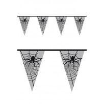 Vlaggenlijn spinnenweb wit 6m € 2,50