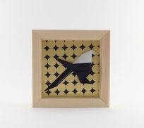 Cadre origami Mésange - Format 11x11 cm - 20€
