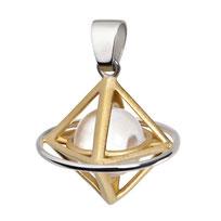 Lichtdom und Doppelpyramide als Kettenanhänger