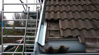 Vervangen zinken deklijsten en dakgoten van zink