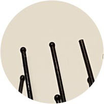 Haarbürste mit abgehenden Noppen