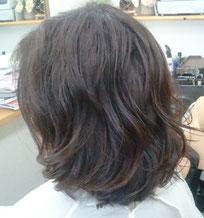 髪痩せしないパーマ 傷まないパーマ 艶のあるパーマ 大きめウェーブ