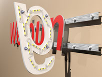 3D Buchstaben  Hintergrundbeleuchtung