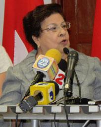 Vilma Nunez, Vorsitzende des CENIDH
