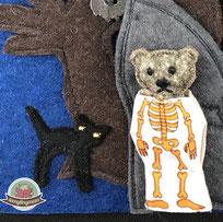 Halloween Kostüm Teddy Spielbuch Nähanleitung