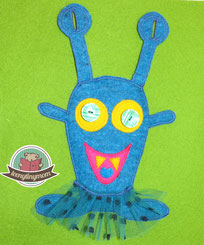 Quiet book pattern monster