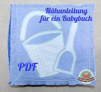 Spielbuch Stoffbuch Anleitung Babybuch Softbuch Nähanfänger Anleitung Nähanleitung Babybuch