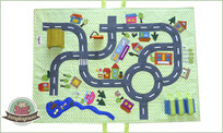 Car play mat tutorial, Roadway mat, Street mat, Activity mat