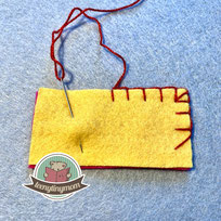 Schlingstich, Blanket stitch, Languettenstich, Knopflochstich