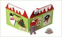 Puppenhaus Spielbuch Teddy Quiet book Filz nähen Spielzeug Weihnachten