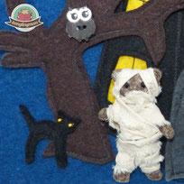 Halloween Mumie Nähanleitung Spielbuch