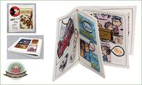 comicbuch für Babys, Stoffbuch, Spielbuch, Nähanleitung, Clothbook