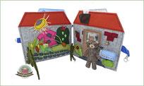 Teddyhaus nähen Filz Spielbuch