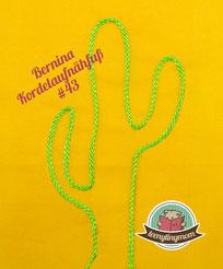 Bernina #43 Kordeln aufnähen Spielbuch Nähanfänger Schritt für Schritt