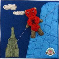 Quiet book Teddy Spielbuch nähen Spiderbär