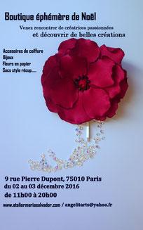 Fleurs en papier tendance décoration d'intérieur, pop up store Paris , artisans créateurs