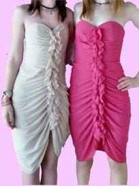 H&M Partykleid pink beige Gr. 36,38