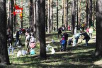 Каждая семья посадила «свое» дерево.   Фото: Юлия ПЫХАЛОВА,