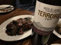 牛ステーキとリベラ・デル・ドゥエロ