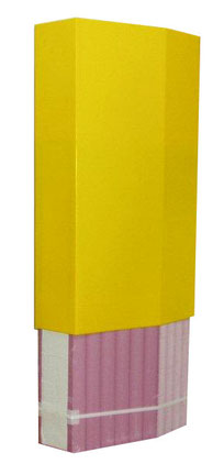 """Easy slide-on fit to protect """"Safer"""" foam pylons."""