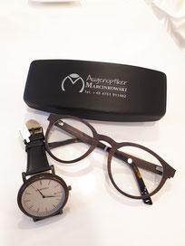 Marcinkowski - Lieblingsteil der Woche - Stadtholz Armbanduhr und Brillenfassung