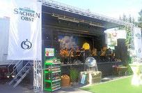 Event-Truck und Bühne