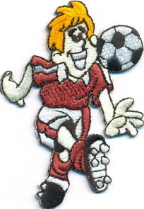 Gestickter Fussballspieler, Fanclub Aufnäher für Jugendmanschaften, Patch, Abzeichen, besticktes Emblem