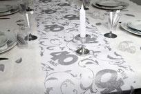 Chemins de table anniversaire