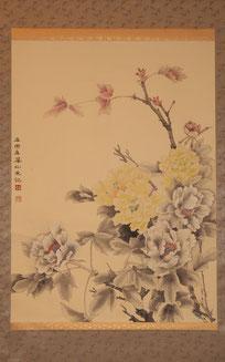 牡  丹 ( 工筆画・)