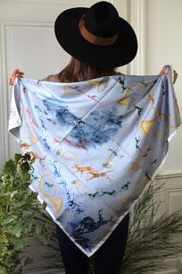 qualité stable sélectionner pour authentique Promotion de ventes Fanfaron x Artistes - carré en soie, twill de soie, foulard ...