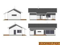 Holzhaus in Blockbauweise - Ansichten