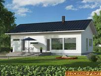 Holzhaus in Blockbauweise - Wohnblockhaus - Hausbau