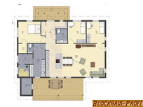 Wohnblockhaus - Grundriss