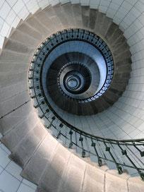 Drehwurm - die Wendeltreppe des Leuchtturmes