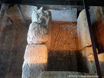 Foto 21, esqueleto en el Centro Arqueológico de la Almoina de Valencia.