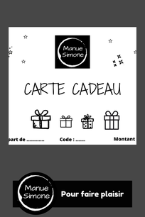 vignette représentant la carte cadeau boutique manue simone