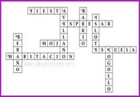 solución crucigrama variado