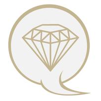 Kosten - Diamant in Sprechblase