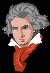 Zeichnung von Ludwig van Beethoven