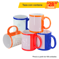 Taza con ventana full color