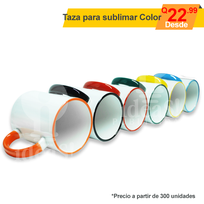 Taza para sublimar de color