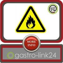 Aufkleber Warnschild Warnung vor feuergefährlichen Stoffen